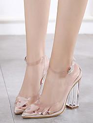 Da donna-Tacchi-Formale-Club Shoes-Quadrato-Gomma-