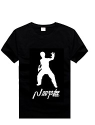 Nunchakus Cotton T-shirts With Short Sleeves