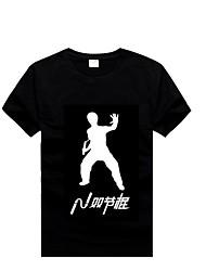 Nunchakus algodão t-shirts com mangas curtas