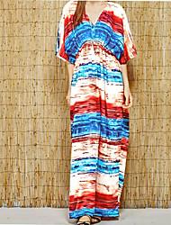 Women's Bandeau Cover-Up,Color Block Cotton