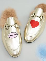 Boys' Slippers & Flip-Flops Slingback PU Fall Casual Flat Heel Gold Flat
