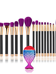 16pcs Contour Brush Fish Makeup Brush Set Blush Brush Eyeshadow Brush Lip Brush Brow Brush Eyeliner Brush Eyelash Brush