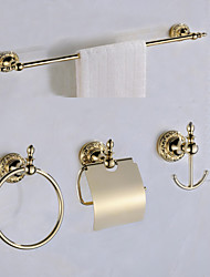 Antique Gold Color Luxury BrassBathroom Accessory Set