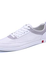 Homens tênis primavera queda conforto pu casuais vermelho preto branco