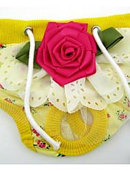 Perros Pantalones Ropa para Perro Verano Rayas Adorable Moda Amarillo Azul Rosa
