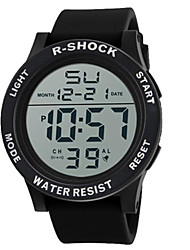 Men's Sport Watch Digital Watch Chinese Digital Silicone Band Black