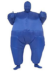 Costume Inflatable Full Body Suit Inflatable Costume Teen Chub Suit Full Body Jumpsuit Costume Blue Color Masked Man Adult Large
