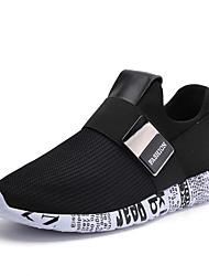 Herren Sneakers Frühjahr Herbst Komfort PU casual schwarz / weiß schwarz / gold schwarz