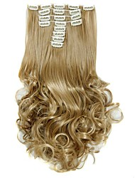 Synthetic Hair False Hair Extensions 20inch 150g Curly Hairpiece Heat Resistant Hair D1022 24/27#