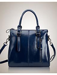 Women PU Outdoor Shoulder Bag Violet Ruby Black