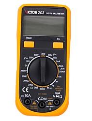 Victor® victor203 auto-range multímetro digital detector de voltagem AC detector de bolso ohm / volt uso doméstico eletrônico com