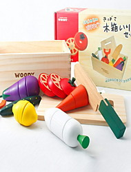 Pretend Play Toy Foods Model & Building Toy Wood Children's