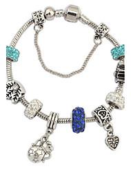 Women's Chain Bracelet Jewelry Fashion Bohemian Rhinestone Glass Alloy Irregular Jewelry For Party Special Occasion Gift 1pc