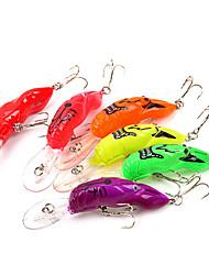 """6 pcs Señuelos duros Cebos Señuelos duros Colores Surtidos g/Onza,85 mm/3-5/16"""" pulgada,Plástico duroPesca de Mar Pesca de baitcasting"""