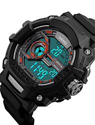 SKMEI® 1233 Men's Woman Watch Double Significant Outdoor Sports Watch Mountain Climbing Waterproof Electronic Watch Male LCD Students Multi-Function