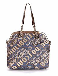 Women PU Outdoor Shoulder Bag Blue