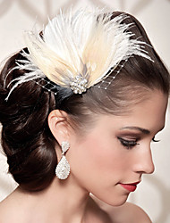 Hand Made Wedding Feather Hair Fascinator Headpieces Fascinators Headbands Hair Accessories Feather Wigs Accessories For Women 009