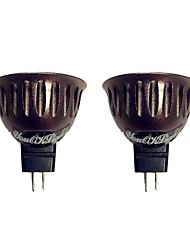 3W GU5.3(MR16) Spot LED 1 COB 250 lm Blanc Chaud V 2 pièces