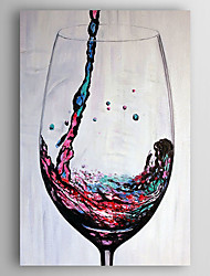 Hand-Painted  Abstract Wine Still Life Oil Painting With Stretcher For Home Decoration Ready to Hang