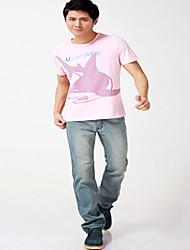 Tee-shirt Homme,Motif Animal Lettre Plage Sportif Décontracté / Quotidien simple Chic de Rue Actif Toutes les Saisons Eté Manches Courtes