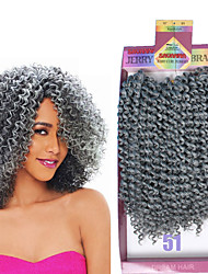 Bohemian kinky curly crochet braids 3pcs/pack freetress water weave 10inch synthetic jerry curly crochet braiding hair extension black brown burgundy