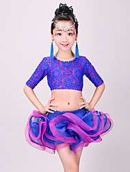 Shall We Latin Dance Outfits Kid 2 Pieces Dance Costumes