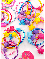 Sweet Mickey Head Activities Fine Hair Rope Jelly Color Candy Hair Circle Children Headdress Baby Hair Ornaments 100PCS