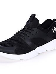 Da uomo-Sneakers-Tempo libero Casual Sportivo-Comoda pattini delle coppie-Piatto-Tulle-Bianco Nero Rosso