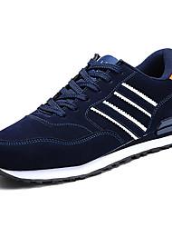 Серый Синий-Для мужчин-Повседневный-Полиуретан-На плоской подошве-Удобная обувь-Спортивная обувь