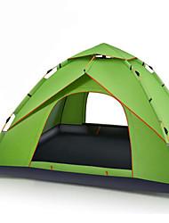 3-4 personnes Tente Double Tente automatique Une pièce Tente de camping 1500-2000 mm Fibre de verre MailleEtanche Respirabilité Résistant