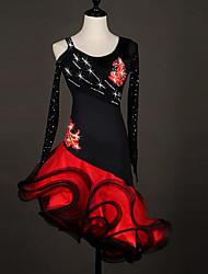 Devrions-nous des robes de danse latine Robe d'organza de performance féminine