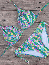 Womens Vintage Floral Triangle Bikini