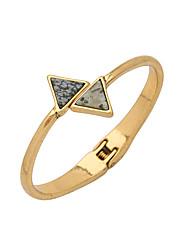 Mulheres Bracelete Amizade Moda Liga Triangular Jóias Para 1peça