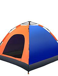 3-4 Pessoas Tenda Único Tenda Automática Um Quarto Barraca de acampamento 1500-2000 mm Fibra de Vidro Oxford Poliéster TafetáÁ Prova de