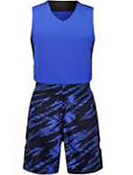 Homens Manga Curta Basquete Camisa + Shorts Shorts Respirável Branco Preto Vermelho Verde Azul L XL XXL XXXL
