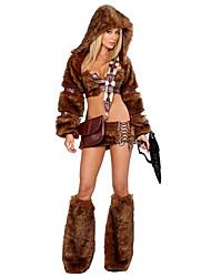 Cosplay Costumes Animal Festival/Holiday Halloween Costumes Brown Others Coat Top Skirt Leg Warmers Hats Halloween Female Spandex Terylene