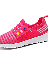 Boys' Athletic Shoes Comfort Tulle Spring Fall Athletic Walking Comfort Split Joint Flat Heel Fuchsia Green Blue 2in-2 3/4in