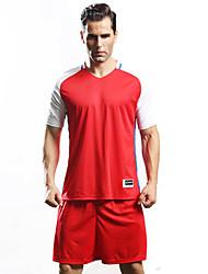 Homme Football Survêtement Respirable Confortable Eté Sportif Térylène Football Orange Jaune Rouge Vert