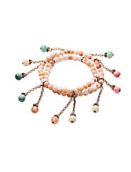 Women's Strand Bracelet Fashion Alloy Round Rainbow Jewelry For Special Occasion Christmas Gifts 1pc