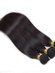 3pcs/Lot  150g 8-26inch Peruvian Virgin Hair Straight Hair Natural Black Human Hair Weave