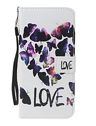 Для iphone 7plus 7 pu кожаный материал любовный тип модель кошелек отделение телефон чехол для 6 плюс 6s 5 se