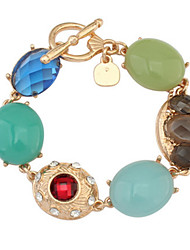Europe And the United States And Fashionable Retro Gem Bracelet