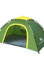 徽羚羊 2 persons Tent Single Automatic Tent One Room Camping Tent Fiberglass OxfordWaterproof Breathability Ultraviolet Resistant Windproof