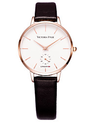 Women's Dress Watch Fashion Watch Wrist watch Casual Watch Japanese Quartz Water Resistant / Water Proof Black Genuine Leather Band