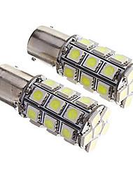 2pcs 1156 27 * 5050smd conduit voiture ampoule lumière blanche dc12v