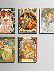 The Logicians Oil Painting Engraved Canvas Print Wall Art Alphonse Mucha 2  Multi Style Selection