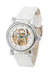 Homens Relógio de Moda Chinês Quartzo Couro Banda Branco