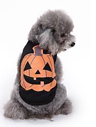 Коты Собаки Футболка Жилет Одежда для собак Лето Тыква Милые Мода На каждый день Хэллоуин