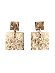 Women's Girls' Drop Earrings Jewelry Unique Design Tag Geometric Square Euramerican Statement Jewelry Classic Fashion Personalized