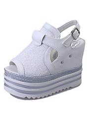 Da donna Sandali Comoda Cinturino alla caviglia Suole leggere Club Shoes PU (Poliuretano) Primavera Estate Autunno Casual FootingComoda